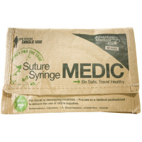 The Adventure Medical Suture/Syringe Medic First Aid Kit is ideal for field stitching and injury treatment