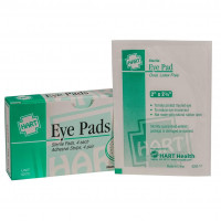 The First Aid Eye Pads with Adhesive Strips, 4 Per Box