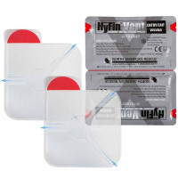 "The Hyfin Vent Chest Seal, 6"" x 6"", Twin Pack"