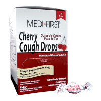 The Medi-First Cherry Cough Drops - 125 Per Box