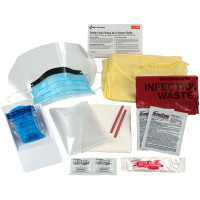 The First Aid Only® 16 Piece Bodily Fluid Clean Up Pack