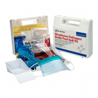 The First Aid Only® blood borne Pathogen and Bodily Fluid Spill Kit - 24 Pieces - Plastic