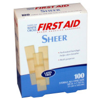 "The White Cross Junior Plastic Bandage, 3/8"" x 1 1/2"" – 100 Per Box"