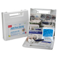 The First Aid Only 50 Person Bulk First Aid Kit - Plastic Case w/ Dividers