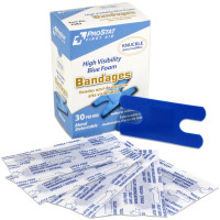 The Knuckle High Visibility Blue Foam Bandages, Metal Detectable, 30 per box