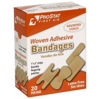 The Assorted Woven Adhesive Bandages, 20 per Box