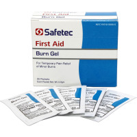 The Safetec Burn Gel, .9gm Pouch, 25 per box