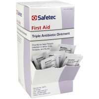 The Safetec Triple Antibiotic .9gm. Pouch, 144 per box