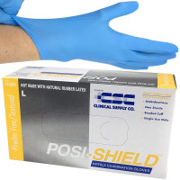 TheNitrile Gloves, Posi-Shield, Large, Blue, 100 Per Box