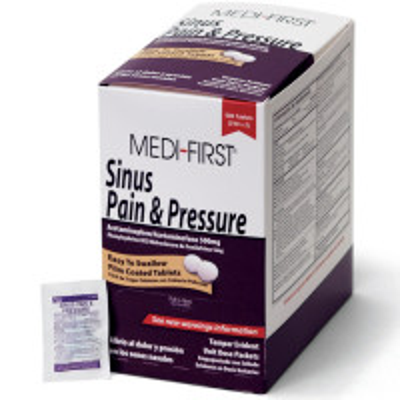 The Medi-First Sinus Pain & Pressure, 500/box