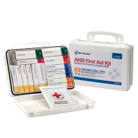 The First Aid Only 16 Unit First Aid Kit, ANSI A,  Plastic Case