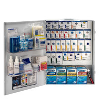 The XL Metal Smart Compliance Food Service First Aid Cabinet with Meds