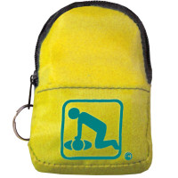 The American CPR Training™ CPR Yellow Belt/KeyChain BackPack: Shield-Gloves