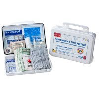 The First Aid Only® Bilingual Contractor's First Aid Kit, 25 Person, Plastic