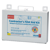 The First Aid Only® Bilingual Contractor's First Aid Kit, 25 Person, Metal