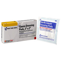 """The First Aid Only® Gauze Dressing Pad, 2""""x2"""" - 6 Per Box"""