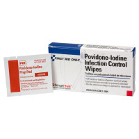 The First Aid Only® Povidone-Iodine Infection Control Wipe - 10 Per Box