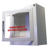 The Urgent First Aid™ AED Wall Cabinet - Surface mount with Alarm