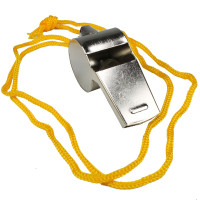 The MayDay Industries Emergency Gear Metal Whistle with Lanyard