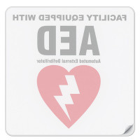 The Defibtech Facility AED Decal