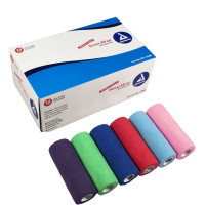 "The Dynarex Sensi Wrap Rainbow - 2 of Each Color - 6"" x 5 yds. - 12 Per Case"