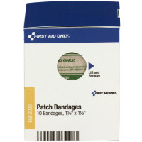 "The First Aid Only® 1½"" x 1½"" Patch Bandages, 10 each - SmartTab EzRefill"