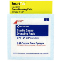 "The First Aid Only® 2"" x 2"" Gauze Dressings, 10 each - SmartTab EzRefill"