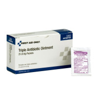 The First Aid Only® Triple Antibiotic Ointment, .5 gm - 25 Per Box