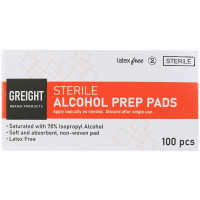 The Prostat First Aid Alcohol Wipes, 100 Wipes Per Box