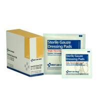 100% pure gauze pads for cleaning wounds and applying medication or antiseptic