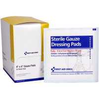 "The First Aid Only® Dressing Pad, Gauze 4""x4"" - 50 Per Box"