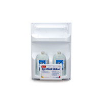 The First Aid Only® Double Eye Wash Station w/ TWO 32 oz. Plastic Bottles