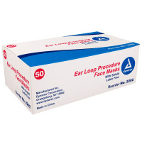 The Dynarex Eye Cover With Ear Loop Mask - 50 Per Box
