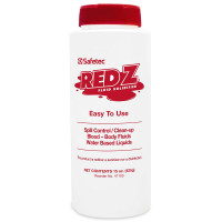 Front View of 15 oz Plastic Red-Z Fluid Control Solidifier Shaker.