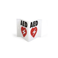 The HearSine Triangular AED Wall Sign