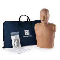 The Prestan™ Adult CPR Mannequin w/ Monitor - Dark Skin