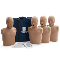 The Prestan™ Child CPR Mannequin w/ Monitor - 4 Pack - Dark Skin
