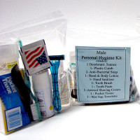 The MayDay Industries Emergency Gear 14 Piece Personal Hygiene Kit (Male)