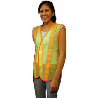 The MayDay Industries Emergency Gear Safety Vest-Lime Green w/ Reflect Tape