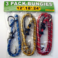"""The MayDay Industries Emergency Gear Bungee Cord - 3 Pack (12"""", 18"""", and 24"""")"""