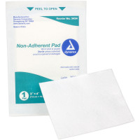 "The Prostat First Aid 3""x4"" Non-Adherent Pad, 50 Per Bag"