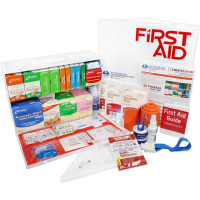 The Urgent First Aid 2 Shelf Industrial First Aid Station - Pocketliner - 75 Person - ANSI B+