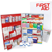 The Urgent First Aid 5 Shelf Industrial First Aid Station - Pocketliner - 200 Person - ANSI B+