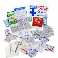 The 10 Person, 116 Piece Bulk Workplace First Aid Kit, Wall-Mountable and Portable Plastic Case with Gasket