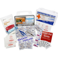 The Bilingual OSHA Contractors First Aid Kit for Job Sites up to 10 People – Gasketed Plastic, 97 pieces