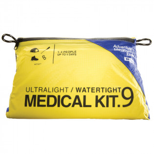 Adventure Medical Ultralight / Watertight .9 Hiking & Trekking First Aid Kit features proprietary DryFlex™ bags for the ultimate in ultralight, waterproof storage