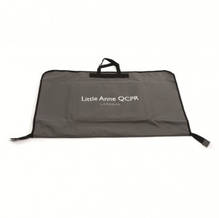 The Laredal Little Anne Carry bag features a built in mat to kneel on while performing CPR