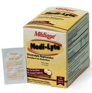 Medi-Lyte Electrolyte Tablets in a convenient Dispenser box (100 tablets/box)