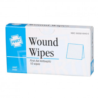 The BZK Antiseptic Wipes, 10 wipes per box