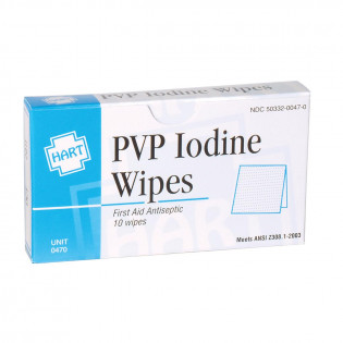 The PVP Iodine Wipes, 10 per box